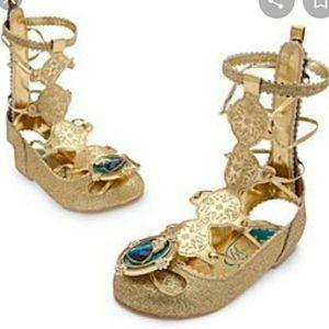 Disney Brave Merida Costume Sandals Sz 9/10 Gold